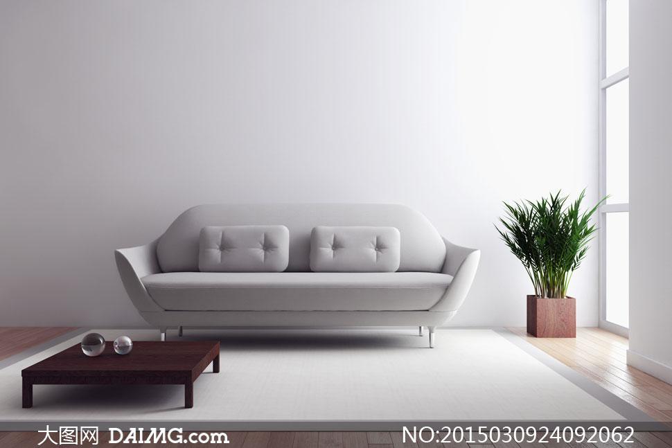 室内房间茶几沙发摆设摄影高清图片