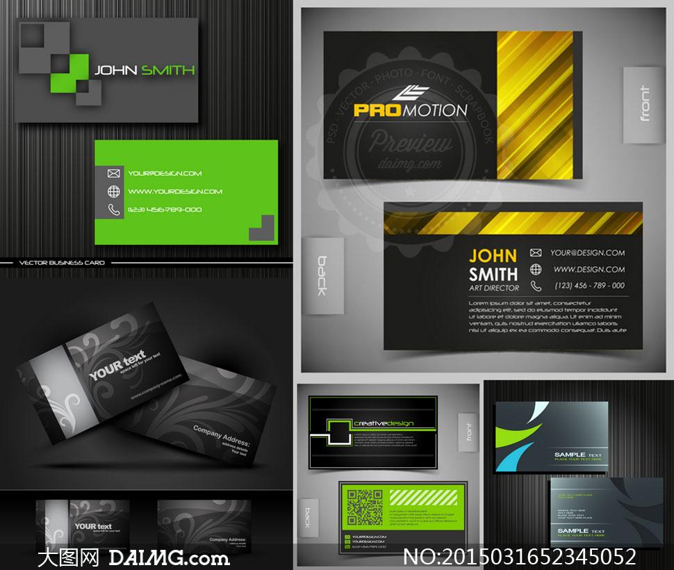 企业商务简约名片版式设计矢量素材