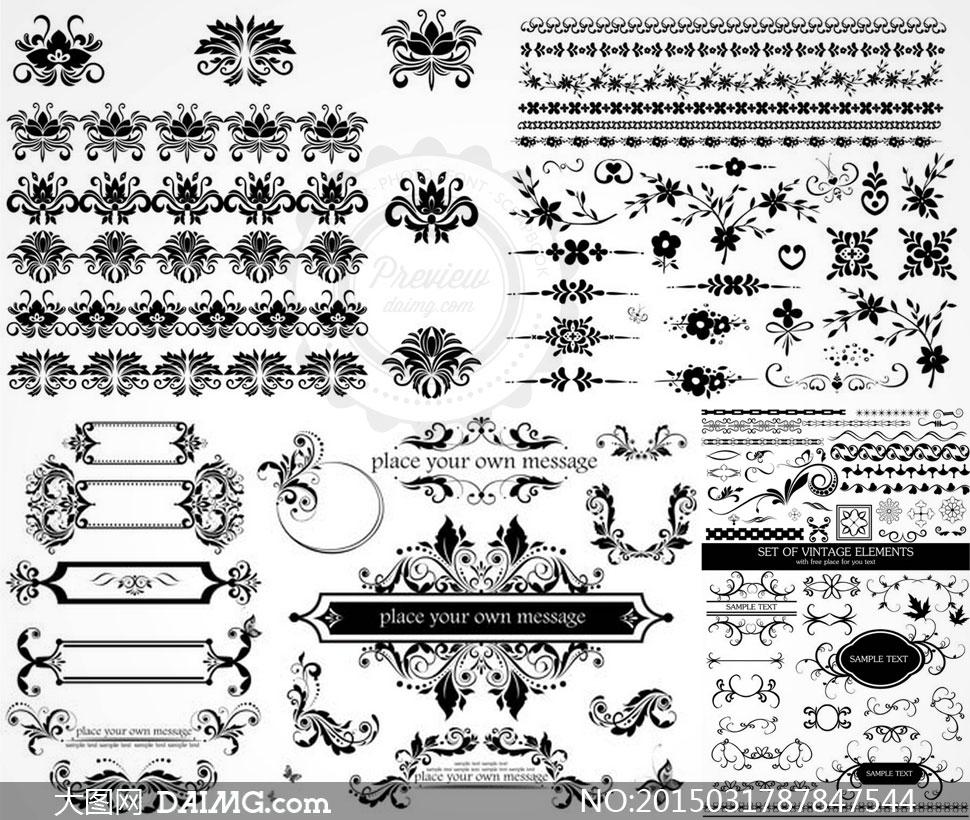 下一篇: 欧式复古花纹边框装饰元素矢量素材 上