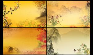 中国风海报背景设计PSD源文件