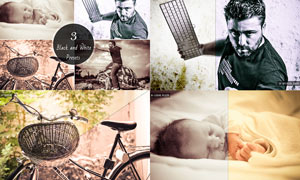 3款照片高质量黑白效果LR预设