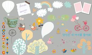 儿童相册模板适用的装饰素材V.03