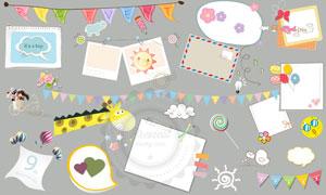 儿童相册模板适用的装饰素材V.01