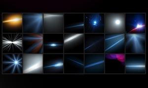 梦幻放射光线和星光PSD分层素材
