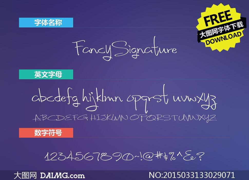 FancySignature(手写英文字体)