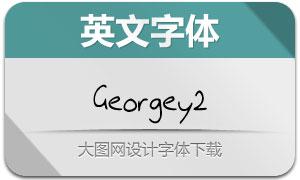 Georgey2(手写英文字体)