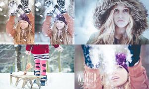 20款人像照片冬季冷色效果LR预设