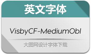 VisbyCF-MediumObl(英文字体)
