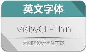 VisbyCF-Thin(英文字体)