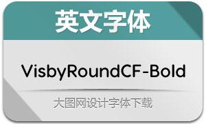 VisbyRoundCF-Bold(英文字体)