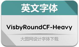 VisbyRoundCF-Heavy(英文字体)