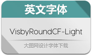 VisbyRoundCF-Light(英文字体)