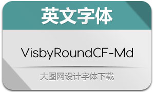 VisbyRoundCF-Medium(英文字体)