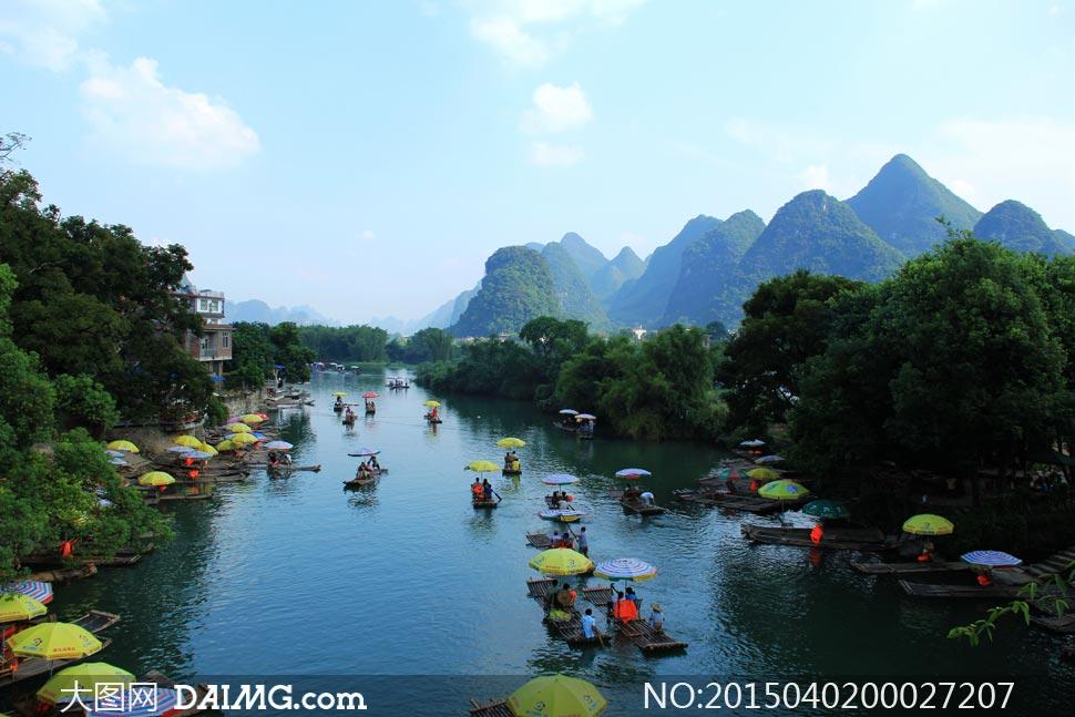 春季桂林山水风光摄影图片