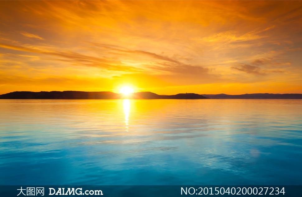海边唯美的日落景色摄影图片 - 大图网设计素材下载
