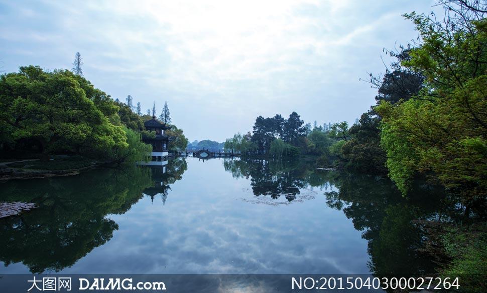 春季西湖美景摄影图片