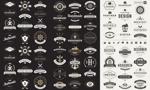 标签与徽章等主题创意矢量素材V03
