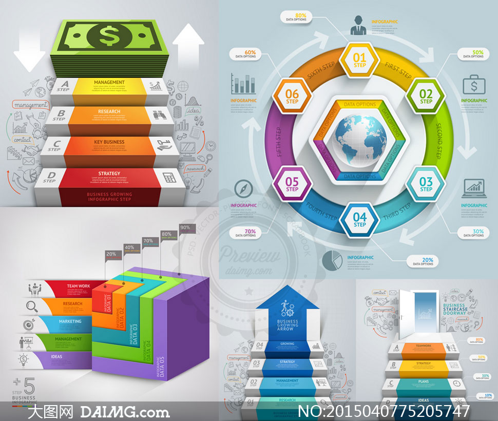 矢量素材矢量图设计素材设计元素流程图