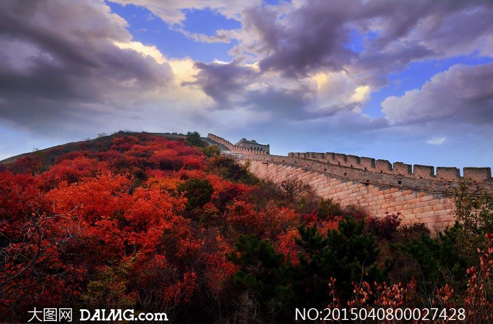 北京红叶岭长城秋季风光摄影图片图片