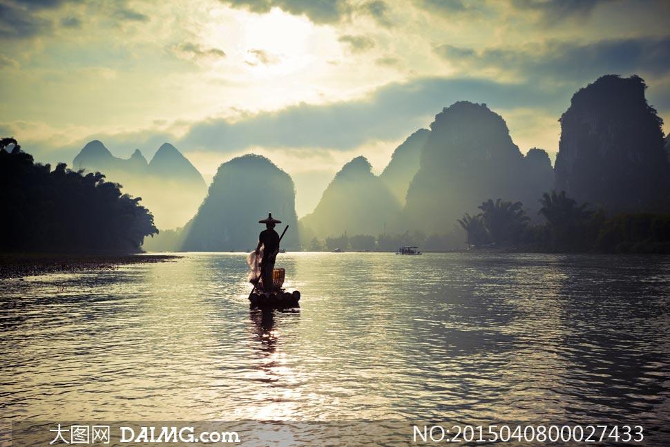 美麗的桂林山水風景攝影圖片