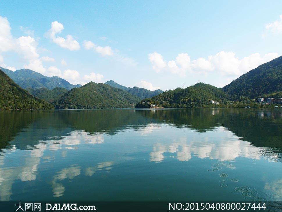 台州长潭水库风景摄影图片