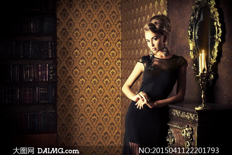 高清大图图片素材摄影人物美女女人女性模特房间欧式
