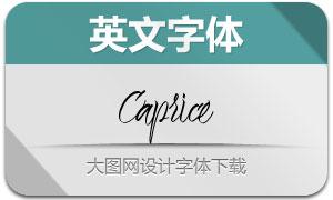 Caprice(手写英文字体)