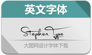 StephenType(手写英文字体)