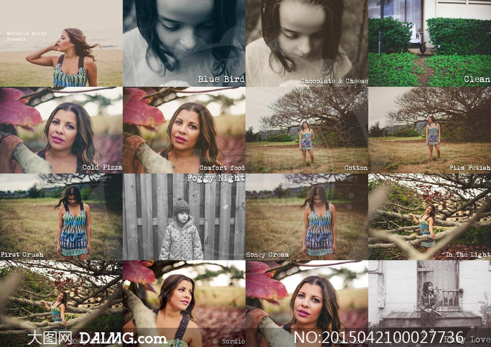 21款照片黑白和冷色效果lr预设图片