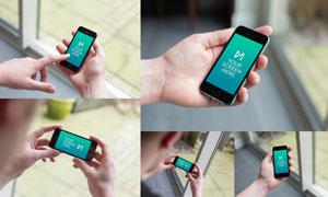 拿在手里的苹果手机展示效果源文件