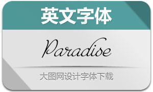 Paradise系列7款英文字体