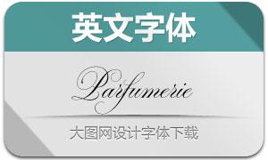 Parfumerie系列6款英文字体