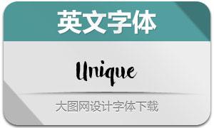 Unique(手写英文字体)