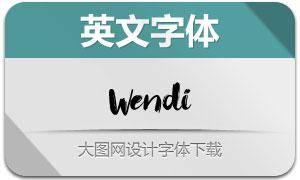Wendi(手写英文字体)