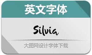 Silvia(手写英文字体)