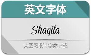 Shaqila(手写效果英文字体)