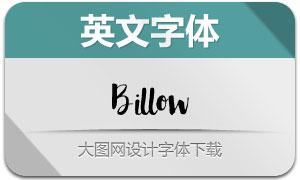Billow(手写英文字体)