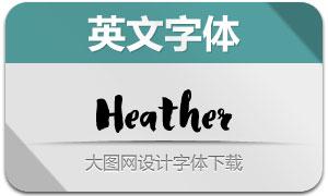 Heather(手写效果英文字体)