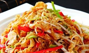 黄粘豆腐皮美食摄影图片