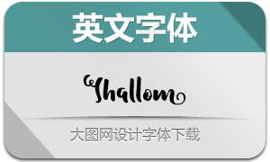 Shallom(手写效果英文字体)