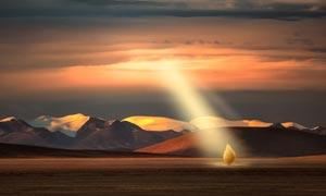 唐古拉山脉美丽风光摄影图片