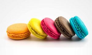 色彩鲜艳的马卡龙特写摄影高清图片