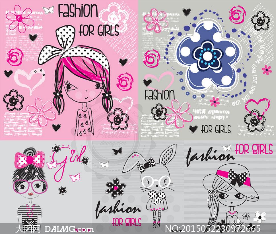 关键词: 矢量素材矢量图设计素材卡通创意可爱图案手绘童装服装小