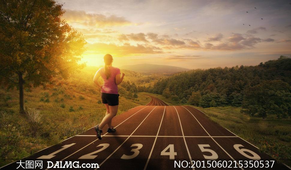 跑步图片与户外跑道等v图片高清人物瘦身馆加盟费图片