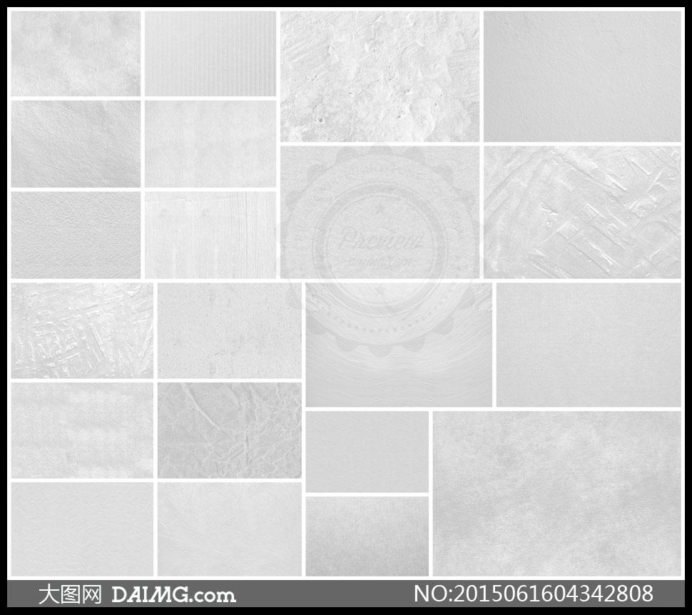 白色纸张墙壁与皮革等底纹背景图片