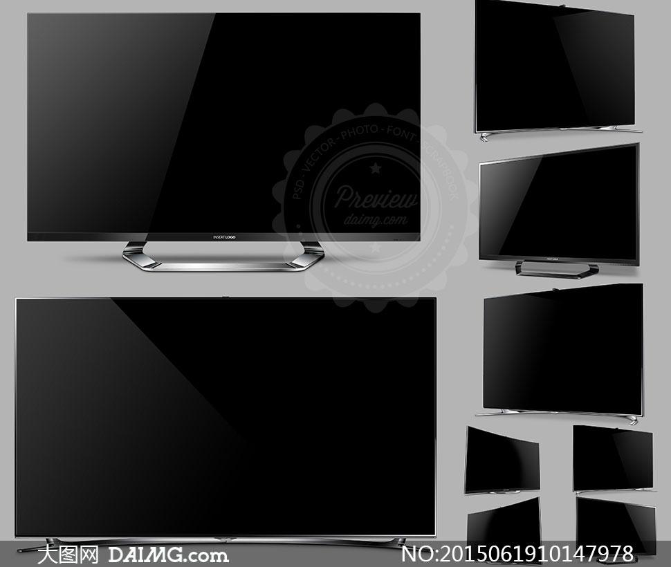 超窄边框智能电视产品效果分层模板