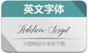 Adelicia-Script(手写英文字体)