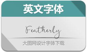 Featherly(手写英文字体)