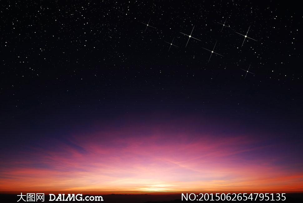 璀璨星空与炫丽云彩等摄影高清图片 - 大图网设计素材