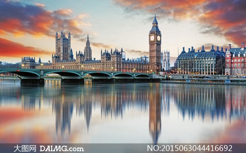 英国伦敦伊丽莎白塔等建筑高清图片